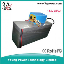 factory custom 144v 200ah lifepo4 battery packs electric car battery packs