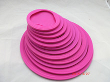 Hot selling 100% food grade silicone lid , heat resistant silicone lid with FDA and LFGB standard