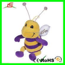 E381 20cm Embroidery Animal Smiley Bee Plush Stuffed Toys