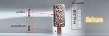 Natural shell hanging gel vent clip car air freshener