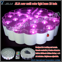 New Product Battery Operated 13 color selections Alternately Changing LED Crystal Light Base