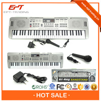 Electric 61keys gaming piano keyboard with microphone for sale