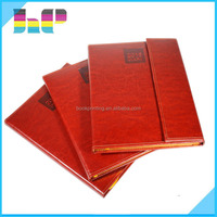 Custom a5 /a4 Leather Cover Embossing Notebook Silk Screen Printing