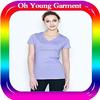 girls fitness t shirt wholesale blank cheap t shirt 100 cotton t shirt manufacturer in China