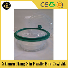 High quality transparent plastic foldable lunch box
