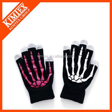Knit glove printed logo