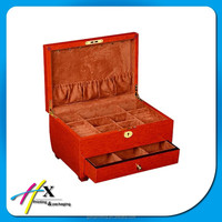 Novel Artificial Leather Creative Wood storage Box For Jewelery