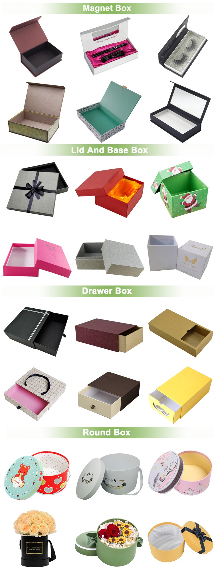 custom paper gift packaging box