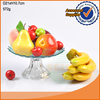 Colored glass fruit plate with stem