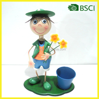 Hot selling doll with metal planter made in China