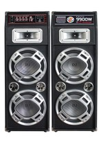 FM USB MMC function double 10 inch stage speaker tweeter woofer with light