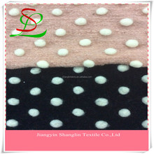 Dots wool knit fabric for coats