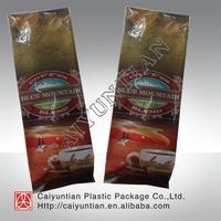 flat bottom aluminum foil side gusset coffee bag with zip lock