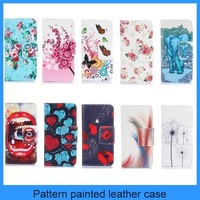For Nokia 830 leather case flower painting pattern wallet flip leather case for Nokia 830(PT-NK8301L221)