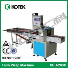 Down Paper Reel Sticky Loose Product Wrapper Horizontal Flow Automatic Small Food Wrapping Machine