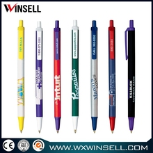 Top selling promotional click style plastic cheap ball pens