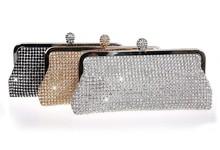 2015 Hot sale blings full crystal clutch bags for women handbag wedding evening bags #FX507