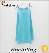 Sky blue children tops fashion plain t-shirts wholesale ODM T-shirts