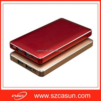 2015 Best Quality Slim 10000mah mobile power bank usb travel charger