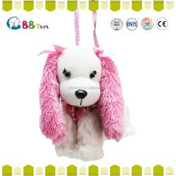 Promotional Fashion Pink long ears dog plush toys