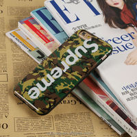 High quanlity stand design Supreme fashion painting phone case cover for iPhone 6