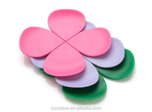 Modern Home Decor Silicone flower Shape Coaster Cup Insulation Mat for Home dinning wedding party banquet designsilicone cup mat