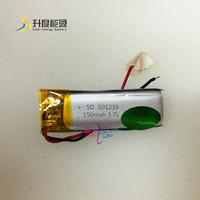new battery SD 501235 smart 501235 3.7v li-polymer rechargeable 150mah/ best quality 3.7v 150mah lipo battery for mini pro