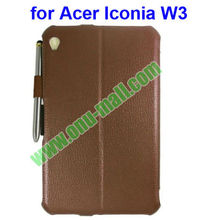 Smart Cover Wake Up/Sleep Leather Case for Acer Iconia W3 8.1 '' with Pen
