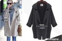 новые свободные дамы осень/зима вязаный женщин пальто кардиган m l коричневый серый бежевый 31020