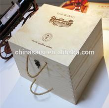 fancy wood wine carrying case for sale