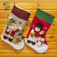 knit christmas stocking, plush pet knit christmas stockings for embroidery