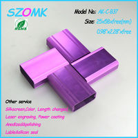 25*58*80mm aluminum box and concluding aluminum enclosure with beautiful color, smooth surface and high quality for electronics