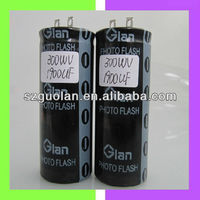 Glan 300V 1900UF High Speed Charge Discharge Cylindrical Aluminum Electrolytic Capacitor Photo Flash Capacitor