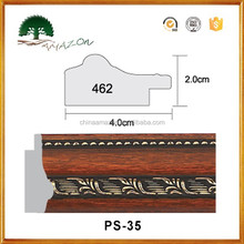 Newest style Polystyrene PS decoration moulding for construction, Plastic PS photo picture mirror frames