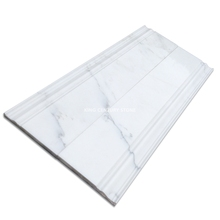 5'' X 12'' polished pure white marble flooring baseboard design picture