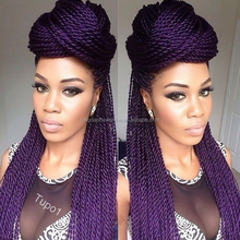 factory price stock top fashion synthetic purple hair braiding