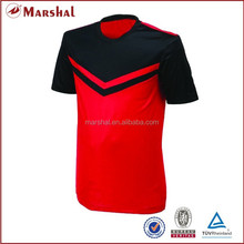 Thailand quality soccer jersey,Red black plain soccer uniform,Dri fit shirts wholesale