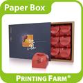 personalizado colorido de papel de presente caixa de bolo