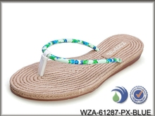 cheap wholesale straw flip flops,3 colors available