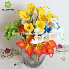 2015 new arrival artifical flowers, real touch flower wholesale calla lily bouquet