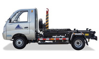 Garbage dump truck,Garbage Truck with Detachable Carriage and Auxiliary Garbage Bin,sanitation vehicle