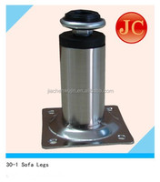 2015 JC weld round adjustable metal sofa leg for sitting room sofa