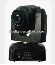 30W LED Mini Moving Head Spot Light /DMX 512/Rotating Gobo/ Pan/Tilt/Rainbow flow effect/Custom program