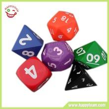 Custom shape Pu dice anti stress ball