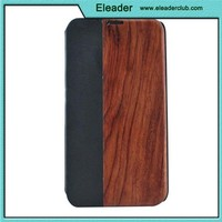 wooden design for samsung galaxy s5 flip leather case