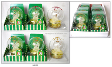 Hand Blown Clear Glass Ball with LED Light and Gift Box
