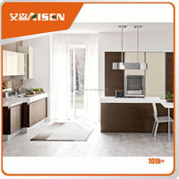 On-time delivery french kitchen showroom in black marble counter top