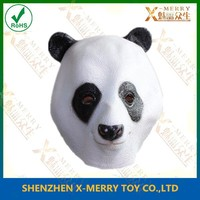 X-MERRY MARTIAL ARTS PANDA PO IDEAL FOR HALLOWEEN GRIMACE COSPLAY COSTUME RUBBER LATEX MOVIE COSPLAY CREEPY ANIMAL MASK