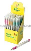Tiny Glass Ball Pens Point Fancy Tube Love Rose Sketch