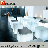 led cube/ led cube lighting chair/ battery power led colorful light up cube chair